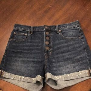 Gap Button Front Denim Shorts